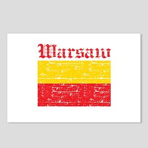 Flag Of Warsaw Design Postcards (Package of 8)