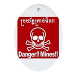 Danger!!Mines!! Ornament (Oval)