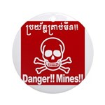 Danger!!Mines!! Ornament (Round)
