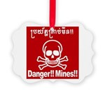 Danger!!Mines!! Picture Ornament