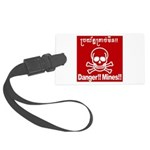 Danger!!Mines!! Large Luggage Tag