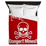 Danger!!Mines!! Queen Duvet