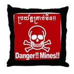 Danger!!Mines!! Throw Pillow