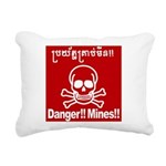 Danger!!Mines!! Rectangular Canvas Pillow