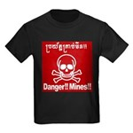 Danger!!Mines!! Kids Dark T-Shirt