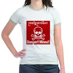Danger!!Mines!! Jr. Ringer T-Shirt