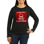 Danger!!Mines!! Women's Long Sleeve Dark T-Shirt