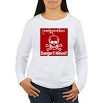 Danger!!Mines!! Women's Long Sleeve T-Shirt