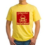 Danger!!Mines!! Yellow T-Shirt