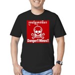 Danger!!Mines!! Men's Fitted T-Shirt (dark)