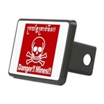 Danger!!Mines!! Rectangular Hitch Cover