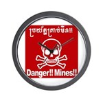 Danger!!Mines!! Wall Clock