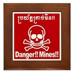 Danger!!Mines!! Framed Tile