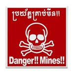 Danger!!Mines!! Tile Coaster