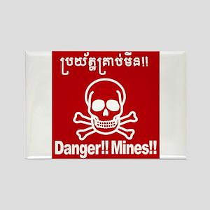 Danger!!Mines!! Rectangle Magnet