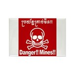 Danger!!Mines!! Rectangle Magnet (100 pack)