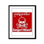 Danger!!Mines!! Framed Panel Print