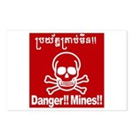 Danger!!Mines!! Postcards (Package of 8)