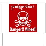Danger!!Mines!! Yard Sign