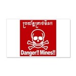 Danger!!Mines!! 20x12 Wall Decal