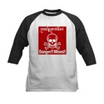 Danger!!Mines!! Kids Baseball Jersey