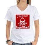 Danger!!Mines!! Women's V-Neck T-Shirt
