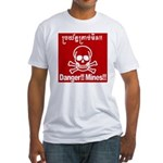 Danger!!Mines!! Fitted T-Shirt