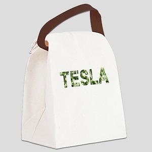 Tesla, Vintage Camo, Canvas Lunch Bag