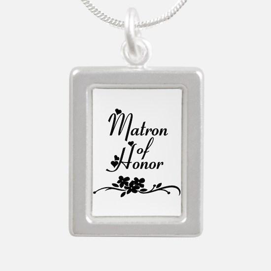 Matron of Honor Silver Portrait Necklace