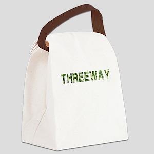 Threeway, Vintage Camo, Canvas Lunch Bag