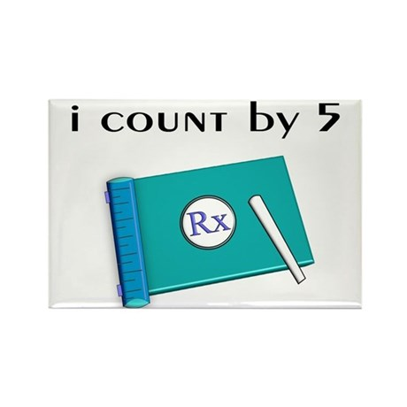 i count by 5.PNG Rectangle Magnet (10 pack)