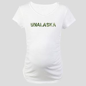 Unalaska, Vintage Camo, Maternity T-Shirt
