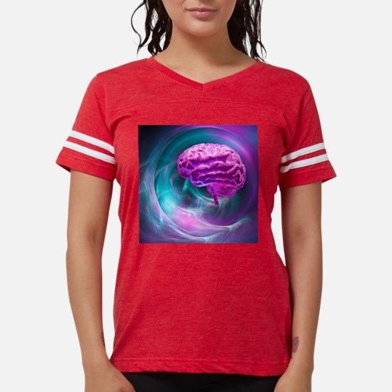 Brain research, conceptual a Womens Football Shirt