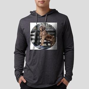 mastiff brindle round Mens Hooded Shirt