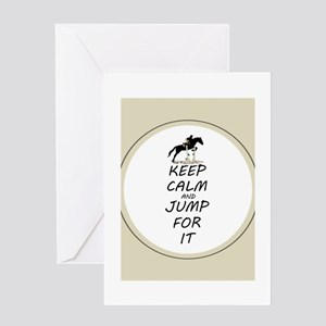 Keep Calm and Jump For It Horse Greeting Card