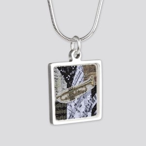 Trumpet Silver Square Necklace