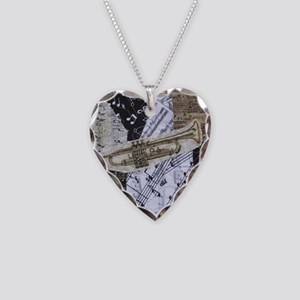 Trumpet Necklace Heart Charm