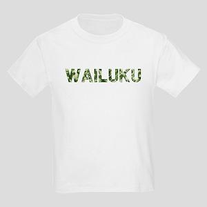 Wailuku, Vintage Camo, Kids Light T-Shirt