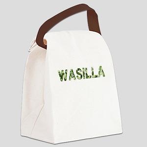 Wasilla, Vintage Camo, Canvas Lunch Bag