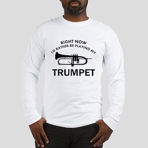 Trumpet silhouette designs Long Sleeve T-Shirt