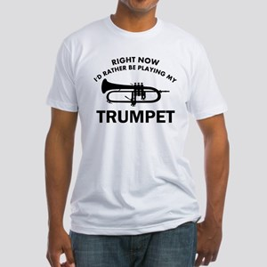 Trumpet silhouette designs Fitted T-Shirt