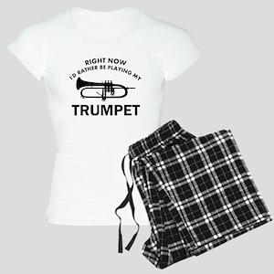 Trumpet silhouette designs Women's Light Pajamas