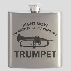 Trumpet silhouette designs Flask