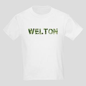 Welton, Vintage Camo, Kids Light T-Shirt