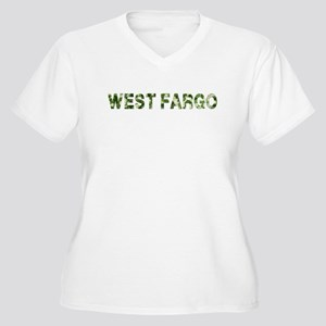West Fargo, Vintage Camo, Women's Plus Size V-Neck