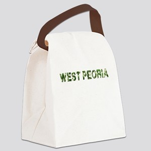 West Peoria, Vintage Camo, Canvas Lunch Bag