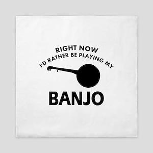 Banjo silhouette designs Queen Duvet