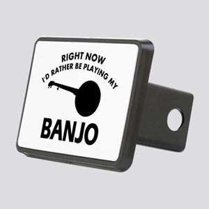 Banjo silhouette designs Rectangular Hitch Cover