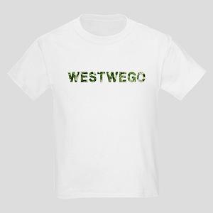 Westwego, Vintage Camo, Kids Light T-Shirt