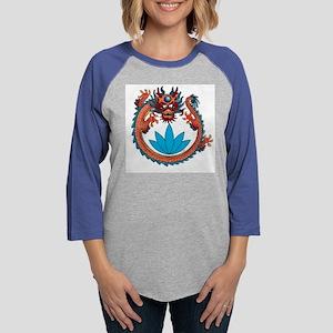10x10_apparel_dragonLotus Womens Baseball Tee